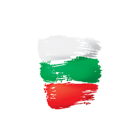 Bulgaria flag, vector illustration on a white background.