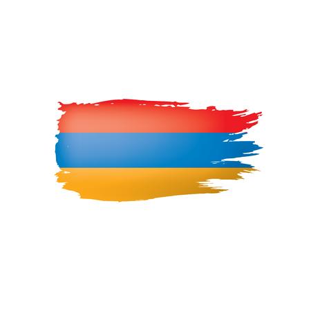 Armenia flag, vector illustration on a white background.