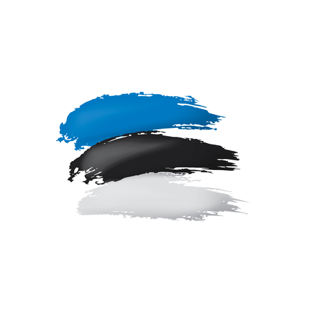 Estonia flag, vector illustration on a white background.