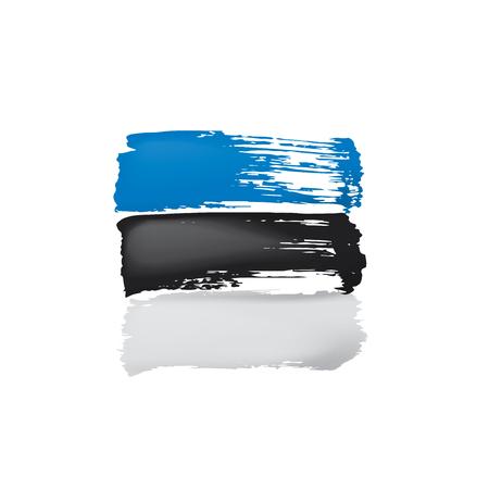 Estonia flag, vector illustration on a white background. Vektorgrafik