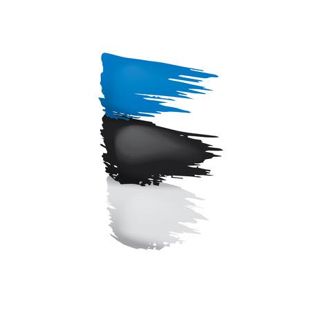 Estland-Flagge, Vektorillustration auf einem weißen Hintergrund.