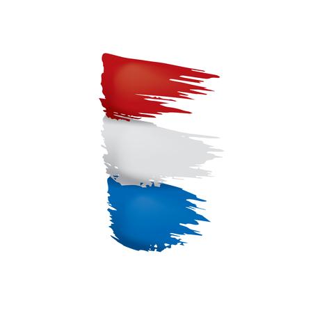 Niederländische Flagge, Vektorillustration auf einem weißen Hintergrund.
