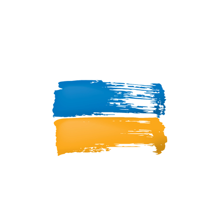 Ukraine flag, vector illustration on a white background.