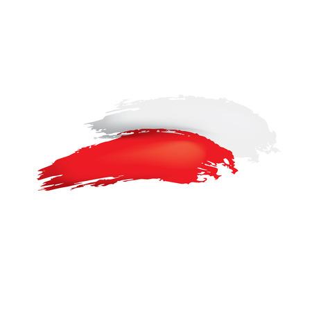 Flaga Polski, ilustracji wektorowych na białym tle.