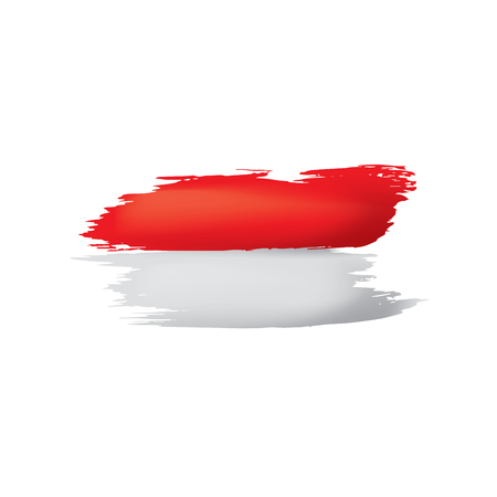 Indonesia flag, vector illustration on a white background. Ilustração