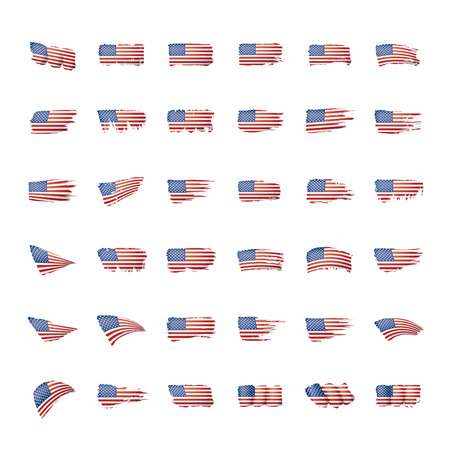 Drapeau USA, illustration vectorielle sur fond blanc. Vecteurs