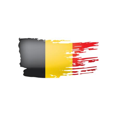Belgium flag, vector illustration on a white background. Illustration