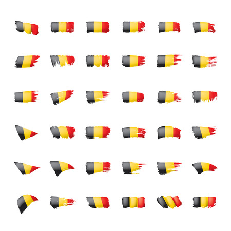 Belgium flag, vector illustration on a white background. Ilustração