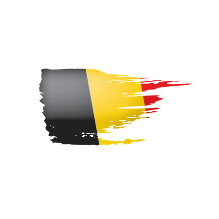 Belgium flag, vector illustration on a white background. Иллюстрация