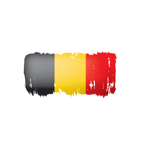 Belgium flag, vector illustration on a white background. 向量圖像