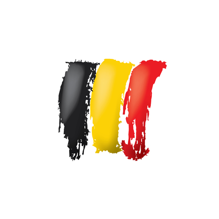 Belgium flag, vector illustration on a white background.