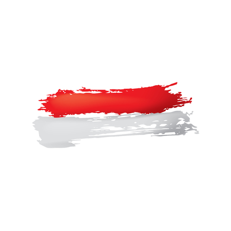 Indonesia flag, vector illustration on a white background