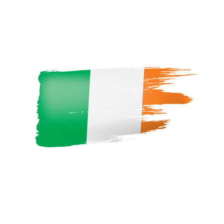 Ireland flag, vector illustration on a white background.