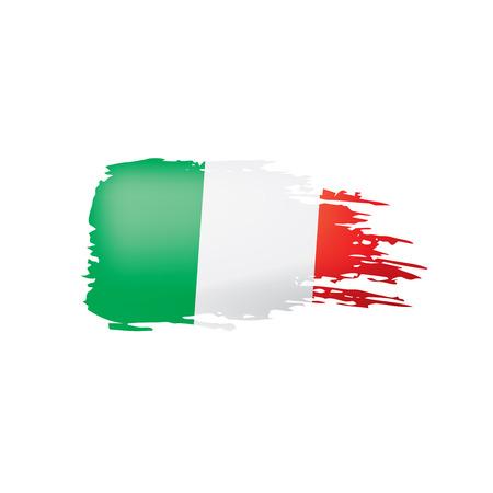 Vlag van Italië, vectorillustratie op een witte achtergrond.