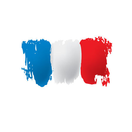 France flag, vector illustration on a white background.