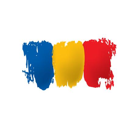 Vlag van Tsjaad, vectorillustratie op een witte achtergrond. Vector Illustratie