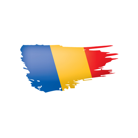 Chad flag, vector illustration on a white background.