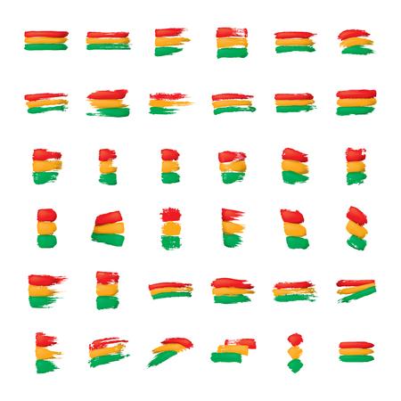 Bolivia flag, vector illustration on a white background.
