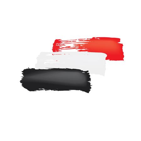 Yemeni flag, vector illustration on a white background.