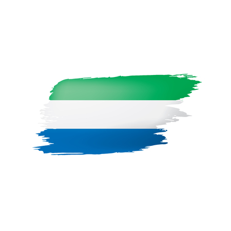 Sierra Leone flag, vector illustration on a white background. Ilustrace