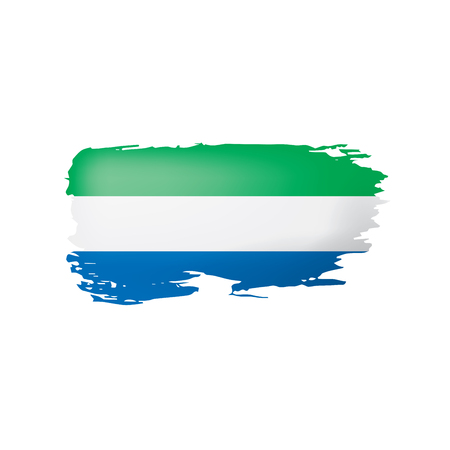 Sierra Leone flag, vector illustration on a white background. Ilustração