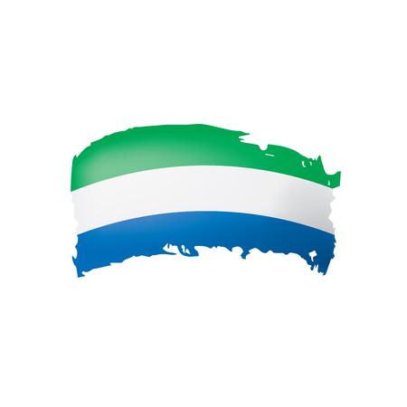 Sierra Leone flag, vector illustration on a white background.