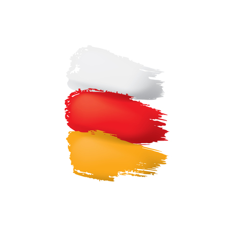 South Ossetia flag, vector illustration on a white background.