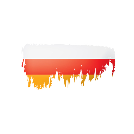 South Ossetia flag, vector illustration on a white background. 向量圖像