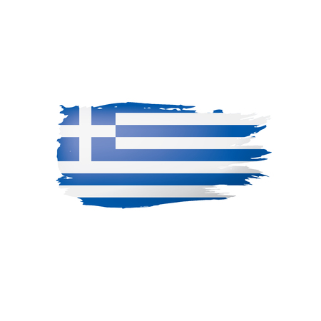 Greece flag, vector illustration on a white background. Illustration