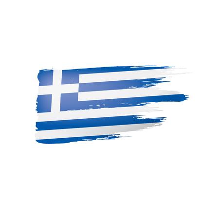 Greece flag, vector illustration on a white background. Stock Illustratie