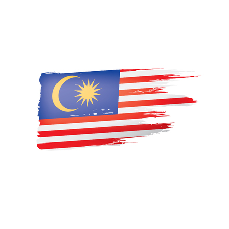 Malaysia flag, vector illustration on a white background. Vetores