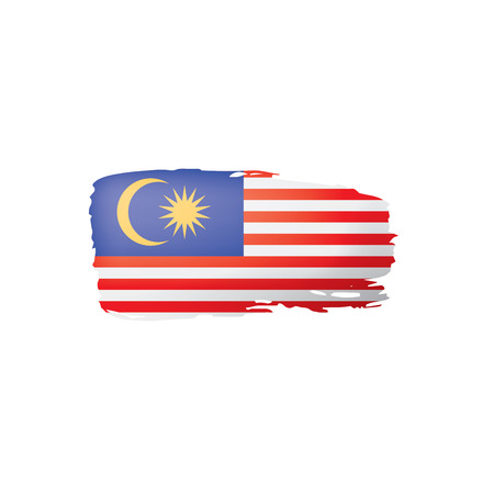Malaysia flag, vector illustration on a white background.