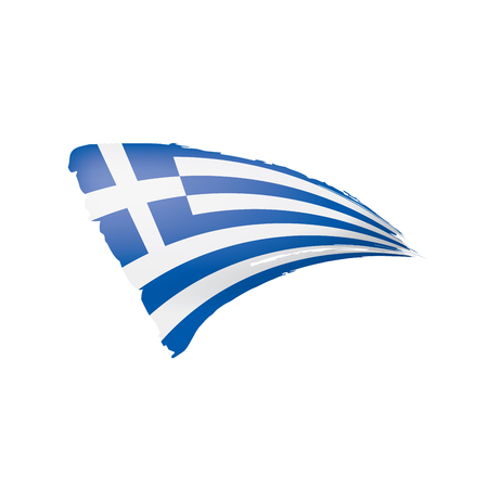 Greece flag, vector illustration on a white background. Illusztráció