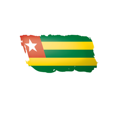 togo flag, vector illustration on a white background.