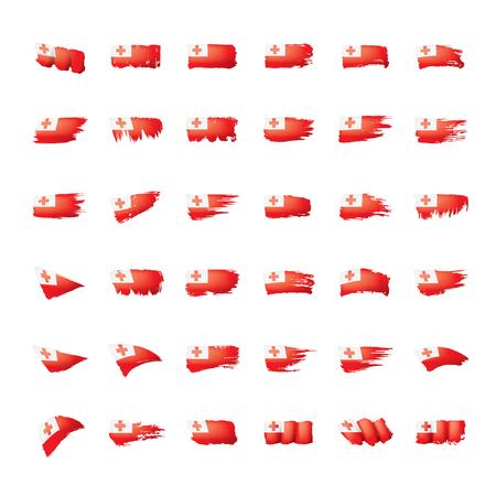 Tonga flag, vector illustration on a white background. Illustration