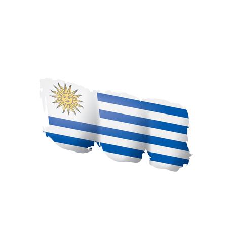 Uruguay flag, vector illustration on a white background.