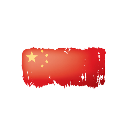 China flag, vector illustration on a white background.