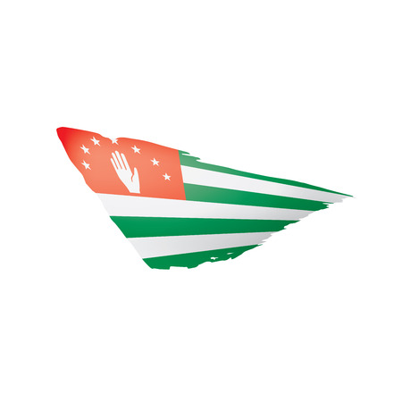 Abkhazia flag, vector illustration on a white background.