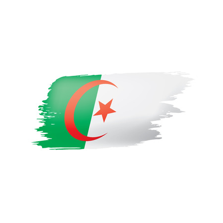 Algeria flag, vector illustration on a white background. Illustration