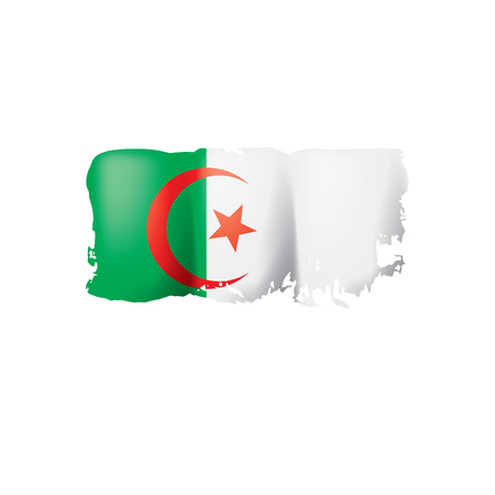 Algeria flag, vector illustration on a white background. Ilustração