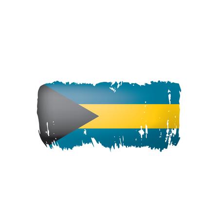 Bahamas flag, vector illustration on a white background.