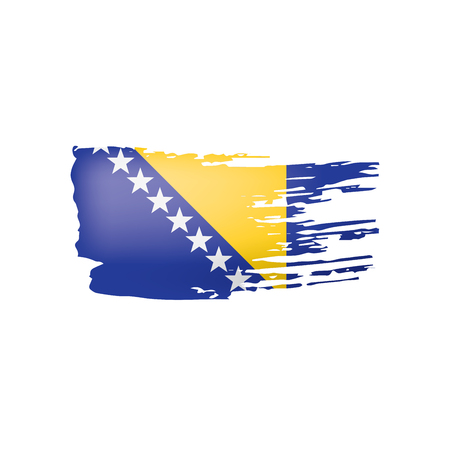 Bosnia and Herzegovina flag, vector illustration on a white background.