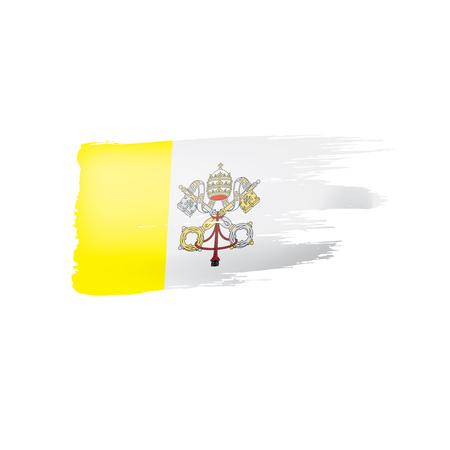 Vatican flag, vector illustration on a white background. Vettoriali