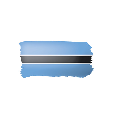 Botswana flag, vector illustration on a white background.