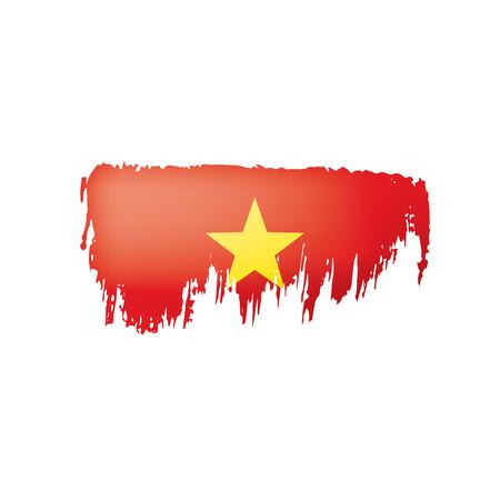 Vietnam flag, vector illustration on a white background.