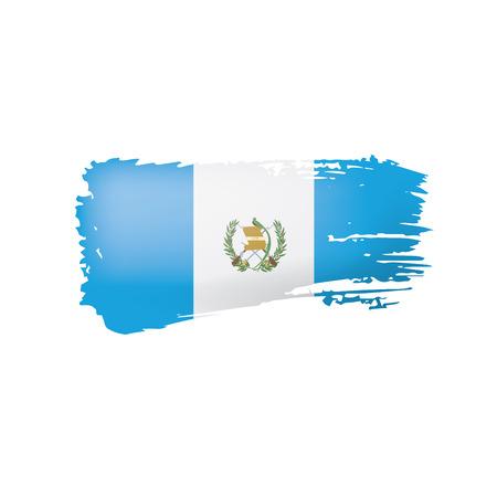 Guatemala flag, vector illustration on a white background