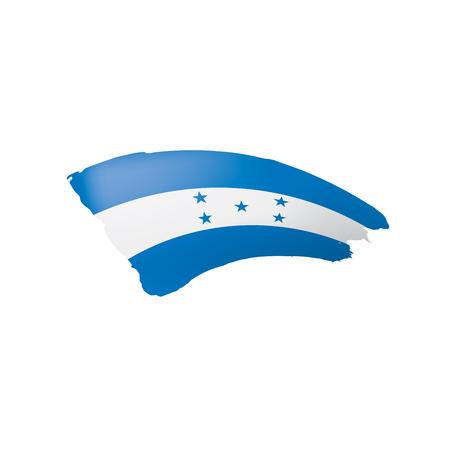 Honduras flag, vector illustration on a white background.