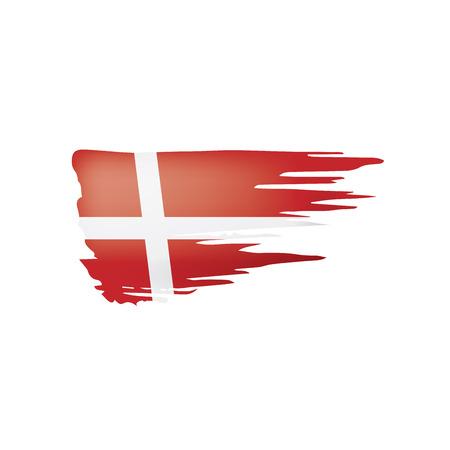 Denmark flag, vector illustration on a white background.