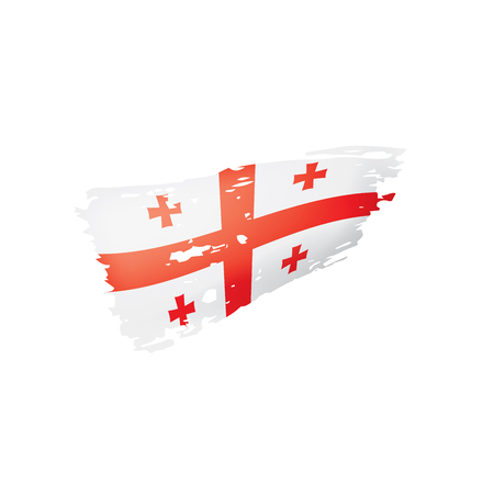 Georgia flag, vector illustration on a white background. Stock Vector - 110164259