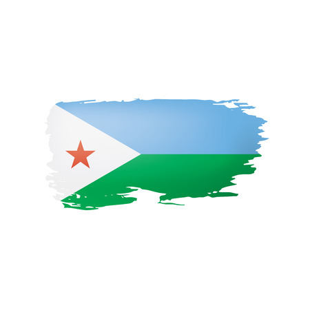 Djibouti flag, vector illustration on a white background.
